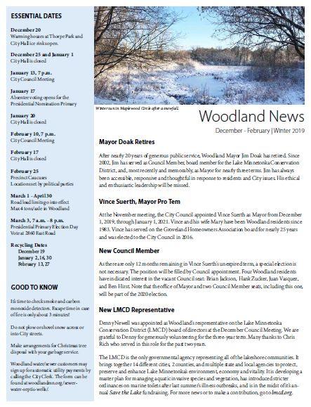 2019 Winter Newletter