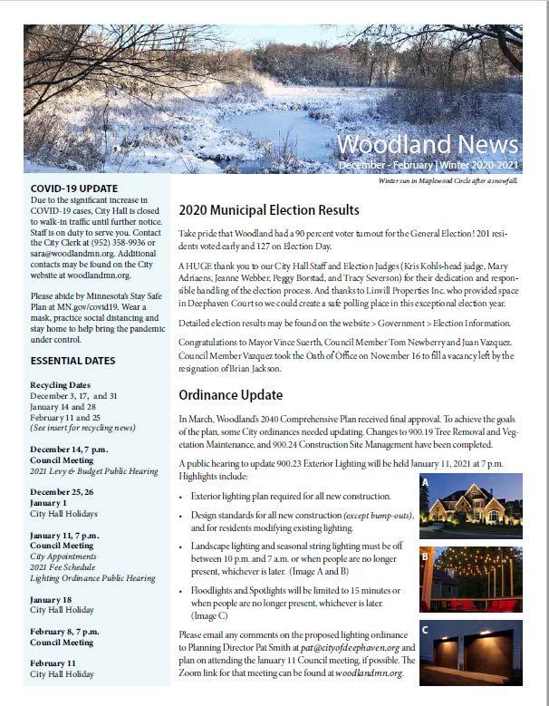 Winter 2020-21 Newsletter
